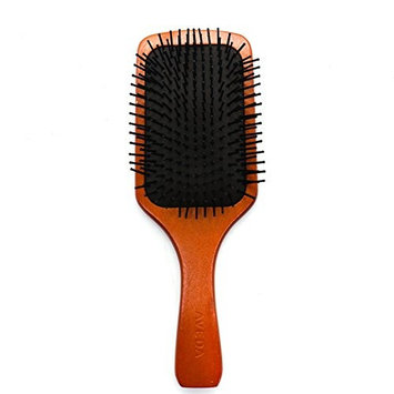 Buorsa Natural Wooden Paddle Hair Brush-Detangling Scalp Massage Hair Comb for Women Men and Kid (Square)