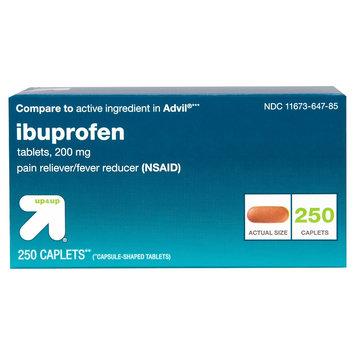 Perrigo up & up Ibuprofen 200 mg Pain Reliever/Fever Reducer Caplets - 250 Count