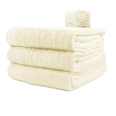 Biddeford Comfort Knit Electric Heated Blanket With Analog Controller, Queen, Cloud Blue