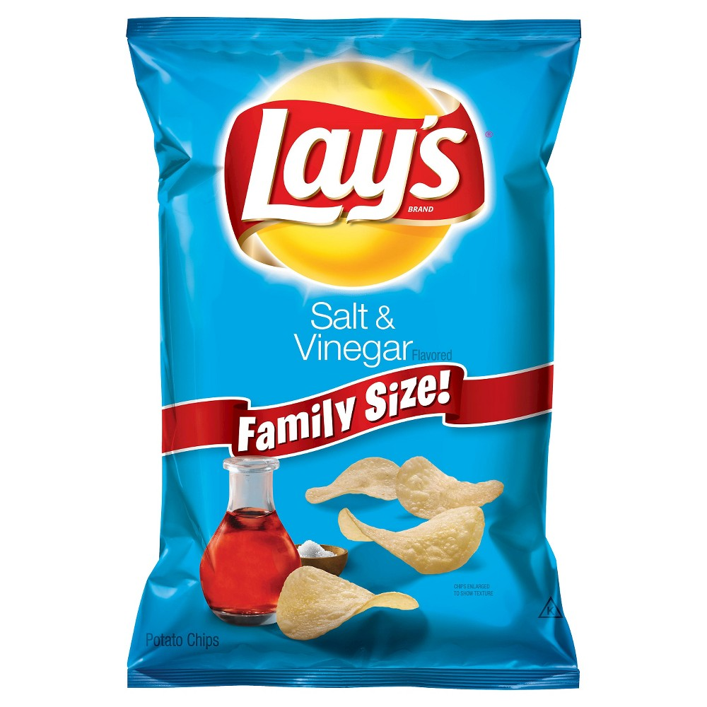Lay's Salt & Vinegar Flavor Potato Chips 9.5 oz