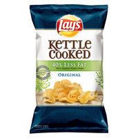 Frito Lay Lay's Kettle Cooked 40% Less Fat Original Potato Chips 8 oz
