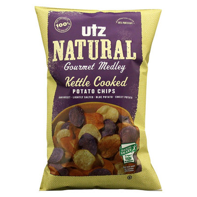 Utz Natural Gourmet Medley Kettle Cooked Potato Chips 8 oz
