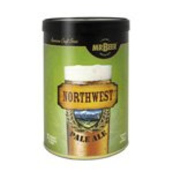 Mr. Beer Northwest Pale Ale 2 Gallon Homebrewing Craft Beer Making Refill Kit with Sanitizer, Yeast and All Grain Brewing Extract [Northwest Pale]