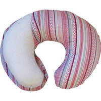 Boppy Bare Naked Pillow with Ribbon Stripe Slipcover Pink For Baby