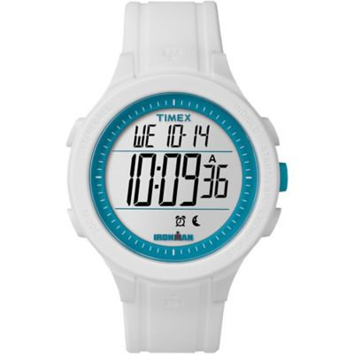 Timex(R) Ironman Classic 30 Full-Size Watch- TW5M148009J, White