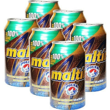 Malta Easy Open 12 oz can . Pack of 6 cans