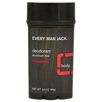 Every Man Jack Deodorant Stick Aluminum Free Cedar Wood, Cedar Wood 3 oz by Every Man Jack