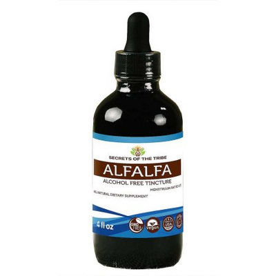 Nevada Pharm Alfalfa Alcohol FREE Liquid Extract, Organic Alfalfa (Medicago Sativa) Dried Leaf 4 oz