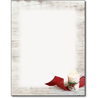 Birch Candle Christmas Holiday Letterhead Paper - 80 Sheets