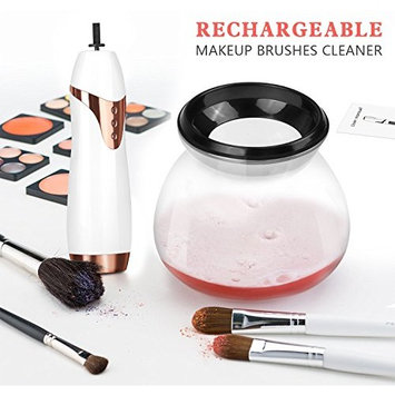 Automatic Makeup Spin Brush Cleaner and Bowl with USB Charging Station