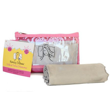Morning Glamour Pillowcase and Travel Bag Set Silver