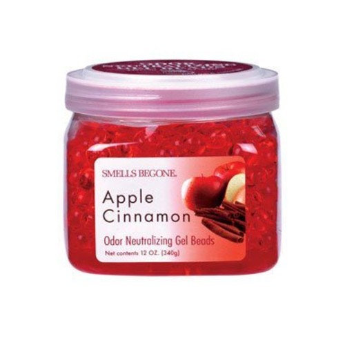 SMELLS BEGONE Odor Eliminator Gel Beads - Air Freshener - Apple Cinnamon Scent