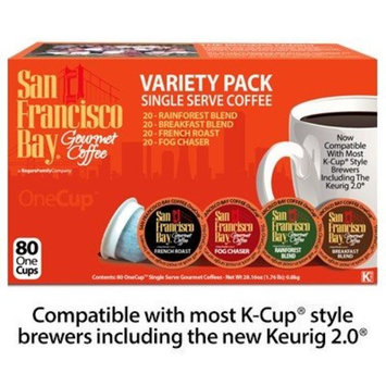 San Francisco Bay OneCup Variety Pack Single Serve Coffee, 80 Pack