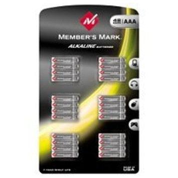 Member's Mark AAA Alkaline Batteries 48 Count