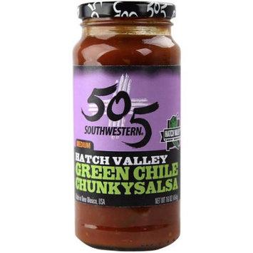505 Southwestern Medium Chunky Green Chile Salsa 16 oz