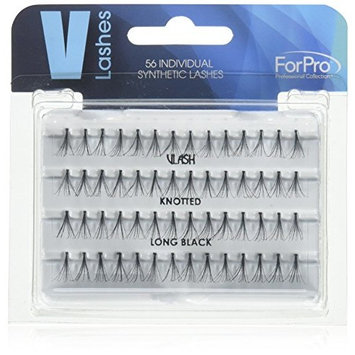 ForPro Individual Synthetic V-Lashes, Black, Long, 56 Count