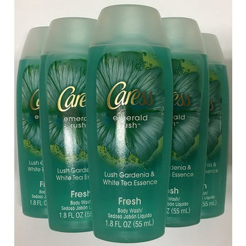 Caress Body Wash, Emerald Rush (1.8 Ounce Travel Size Pack of 6)