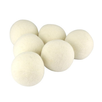 Total Vision's Soft Wool Dryer Balls (6-Pack) - Reusable Natural Fabric Softener