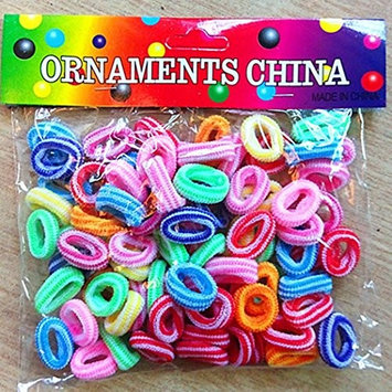 Meflying 100Pcs Candy Color Hair Ties Hair Bands Holders Headband Hair Accessories For Girl Children Baby Daily Use