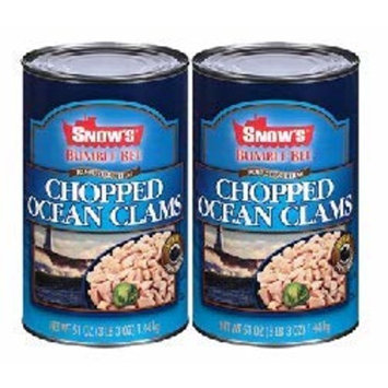 BUMBLE BEE SNOWS Ocean Chopped Clams, Gluten Free Food, High Protein, Bulk, 51 Ounce Can (Pack of 2)