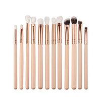 Makeup Brush,Kimanli 12Pcs Mini Cosmetic Eyebrow Eyeshadow Brush Makeup Brush Sets Kits Tools