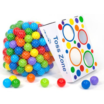 American Creative Team, Inc. 200 Wonder Non-Toxic Crush-Proof Phthalate Free Play Ball Set with Toss Zone Game
