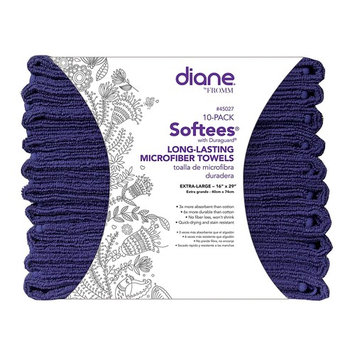 Softees Towels with Duraguard, Navy, 10pk by Fromm International BEAUTY