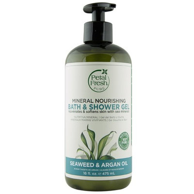 Petal Fresh, Pure, Mineral Nourishing Bath & Shower Gel, Seaweed & Argan Oil, 16 fl oz (475 ml) [Scent : Seaweed & Argan Oil]