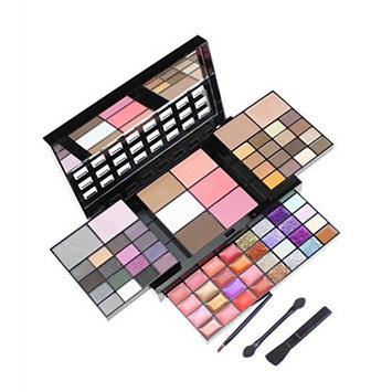 PhantomSky 74 Color Eyeshadow Palette Makeup Cosmetic Contouring Combination with Powder / Blusher / Lipgloss / Concealer - Perfect for Professional and Daily Use