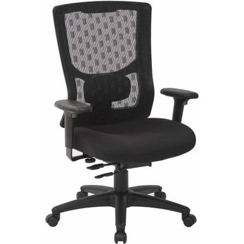 Office Star Products ProGrid Checkered Mesh Back with Coal Free Flex Fabric