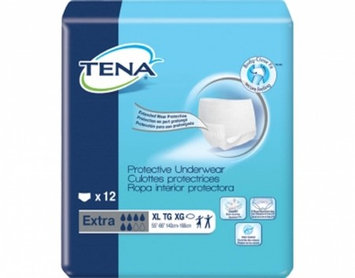 Adult Absorbent Underwear TENA Extra Pull On X-Large Disposable Heavy Absorbency 2 Pack