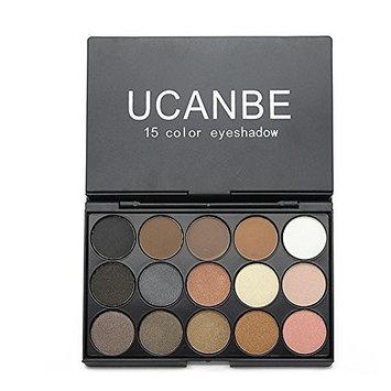 UCANBE 15 Earth Color Glitter Eyeshadow Palette
