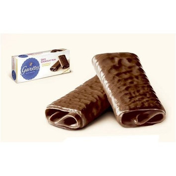 Gavottes Dark Chocolate Crepe Dentelle Cookies 90 gram box, Three by Loc Maria