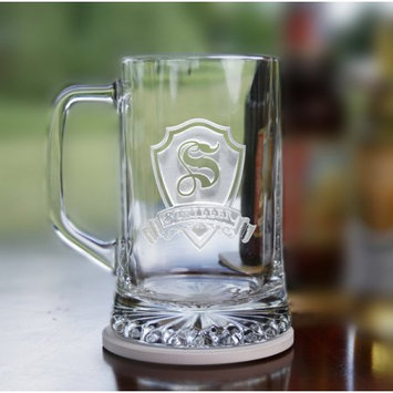 Crystal Imagery Personalized Shield Initial and Name on beer mugs (2 pcs)