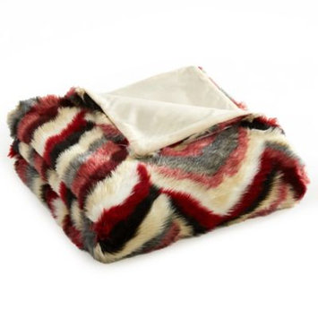Chic Home Janina Faux Fur Throw in Red