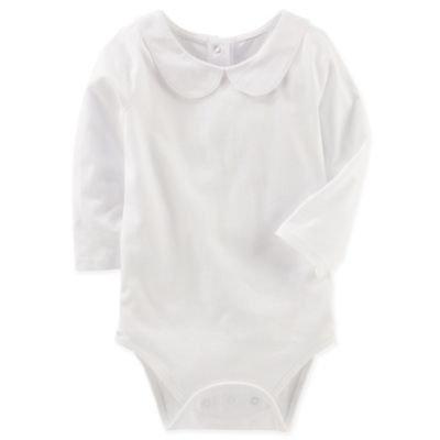 OshKosh B'gosh® Size 9M Peter Pan Collar Bodysuit in White