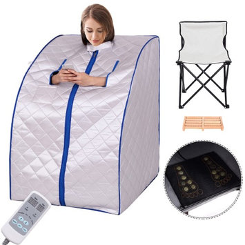 Costway Portable Far Infrared Sauna Spa Full Body Slimming Loss Weight Detox Therapy