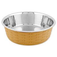 Iconic Pet Color Splash Designer Rattan Fusion Bowl in Beige- Small