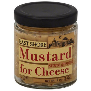 East Shore Stone Ground Mustard for Cheese, 5 oz, (Pack of 12)