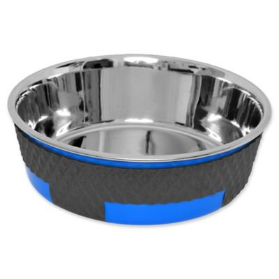 Iconic Pet Color Splash Designer Trimond Bowl in Blue - Small