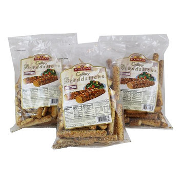 Toufayan Crispy Everything Breadsticks, 8 oz Bag (Pack of 3)