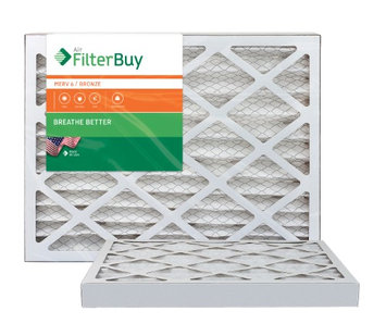 AFB Bronze MERV 6 17x22x2 Pleated AC Furnace Air Filter. Filters. 100% produced in the USA. (Pack of 2)
