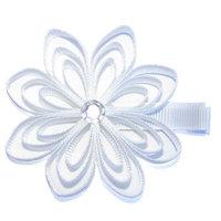 A Girl Company White Ribbon Flower Hair Clip