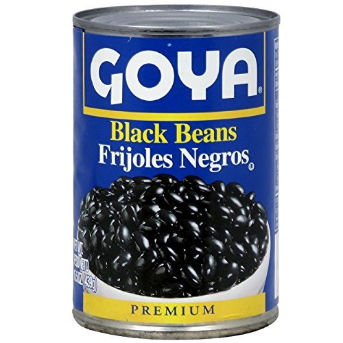 Goya Black Beans - Frijoles Negros 15.5 Oz Pack of 8