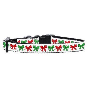 Mirage Dog Supplies Christmas Bows Nylon Ribbon Collar Cat Safety