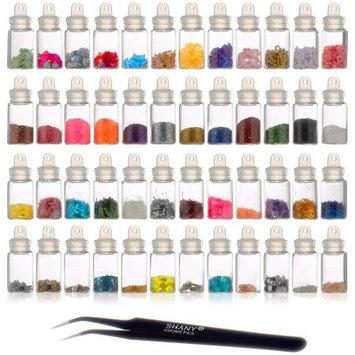 SHANY 3D Nail Art Decoration Mini Bottle Set, 49 pc