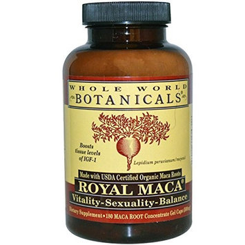 Organic Royal Maca For Menopause Whole World Botanicals 180 VCaps