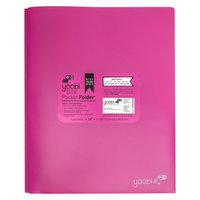 Yoobi Poly Cover Folders - Pink