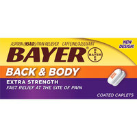 Bayer Extra Strength Back and Body Pain Reliever 500mg Aspirin Caplets - 100 Count, None
