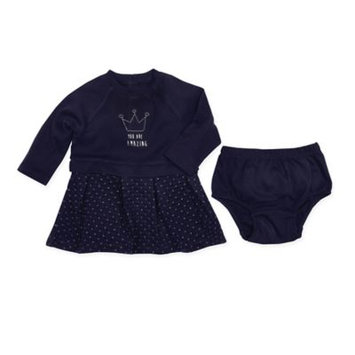 Robeez Quilted Dress & Diaper Cover, Navy, 6 Months